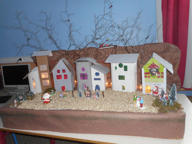 Déco de Noël fabriquée par les élèves