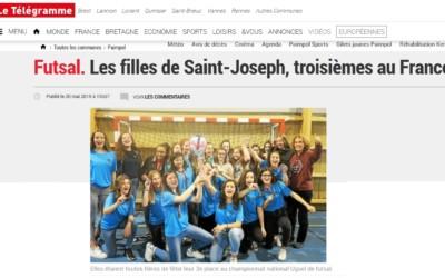 La presse en parle : Futsal les filles 3e au France