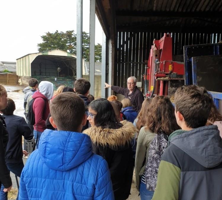 Visite du lycée de Pommerit Jaudy par les élèves de la commission restauration