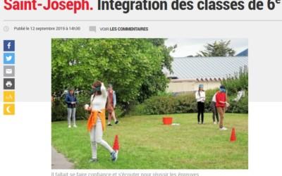 La presse en parle : Journée d'intégration des élèves de 6e