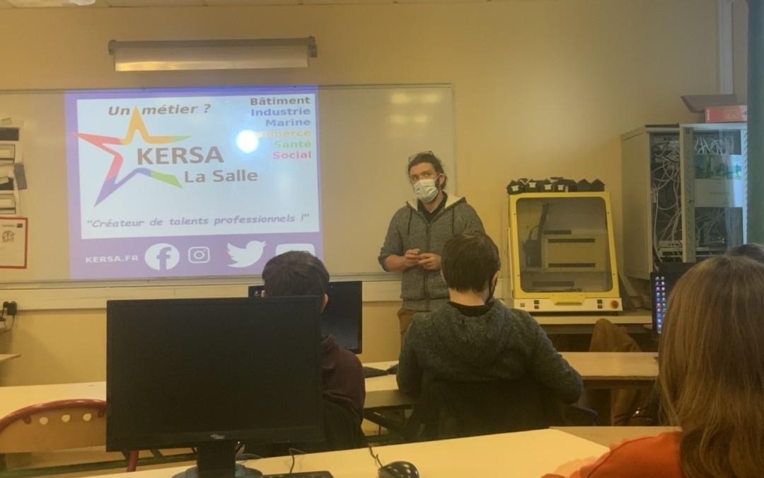 Orientation 3e : Présentation du lycée Kersa Lasalle, de la voie professionnelle